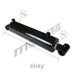 Cylindre Hydraulique Soudé Double Acting 6 Bore 24 Stroke Cross Tube 6x24 Nouveau