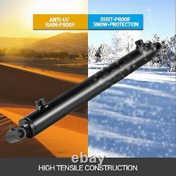 Cylindre Hydraulique Soudé Double Action 1.5 Bore 14 Stroke Cross Tube 1.5x14