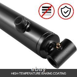 Cylindre Hydraulique Soudé Double Action 2.5 Bore 20 Stroke Cross Tube 2.5x20