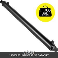Cylindre Hydraulique Soudé Double Action 2.5 Bore 30 Stroke Cross Tube 2.5x30