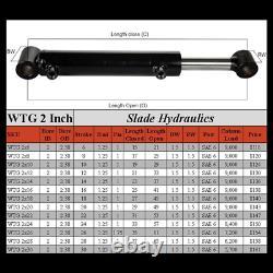 Cylindre Hydraulique Soudé Double Action 2 Bore 10 Stroke Tang 2x10 Wtg Nouveau