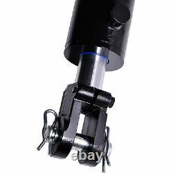 Cylindre Hydraulique Soudé Double Action 3.5 Bore 30 Stroke Clevis 3.5x30 Nouveau