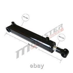 Cylindre Hydraulique Soudé Double Action 3.5 Bore 4 Stroke Cross Tube 3.5x4