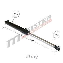 Cylindre Hydraulique Soudés Double Effet 2,5 Bore 18 Stroke Tang Wtg 2.5x18 Nouveau