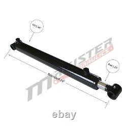 Cylindre Hydraulique Soudés Double Effet 2 Bore 16 Cross Tube Stroke 2x16 Nouveau
