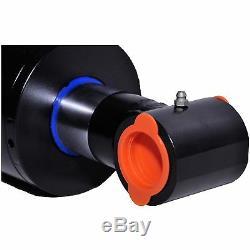 Cylindre Hydraulique Soudés Double Effet 4 Bore 24 Cross Tube Stroke 4x24 Nouveau