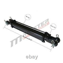 Cylindre Hydraulique Tie Rod Double Action 2.5 Bore 18 Stroke 2500 Psi 2.5x18