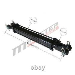 Cylindre Hydraulique Tie Rod Double Action 2 Bore 12 Stroke 2500 Psi 2x12 Nouveau