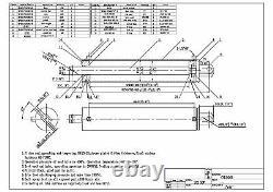 Fendeuse De Bûches Hydraulique Cylindre 4bore X 24 Temps 3500psi 25 Tonnes Pour Oem Fabr