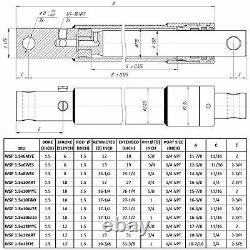 Snow Plow Cylinder 1.5 Bore 6 Stroke Snowplow Remplacement Sur La Marque Meyer Nouveau