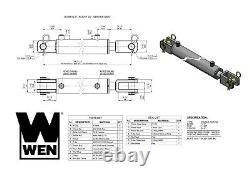 Wen Cc2024 Cylindre Hydraulique Clevis Avec Alésage De 2 Pouces Et Course De 24 Pouces