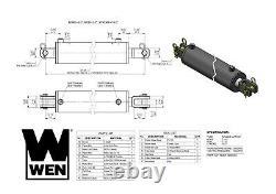 Wen Cc4016 Cylindre Hydraulique Clevis Avec Alésage De 4 Pouces Et Course De 16 Pouces